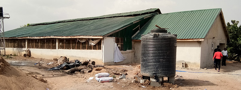 A small scale poutry breeding factory in Abuja