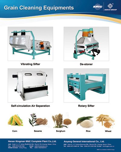 different grains cleaning equipments