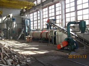 sawdust pellet production line project